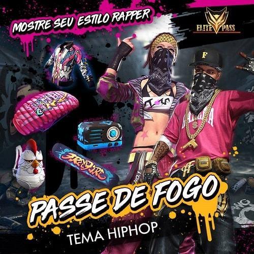 Passe de Elite Hip Hop Free Fire