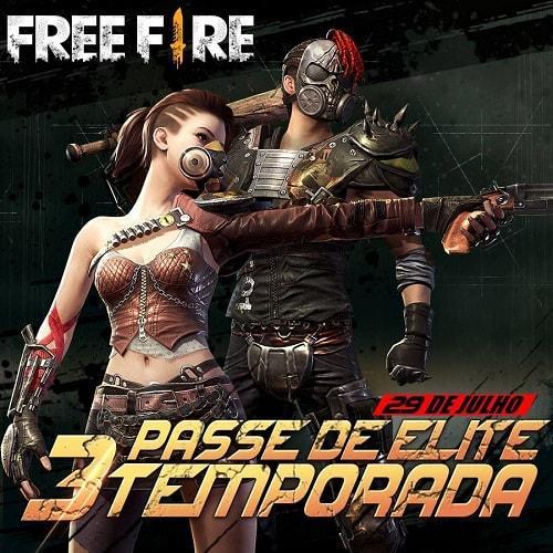 3º Passe de Elite do Free Fire