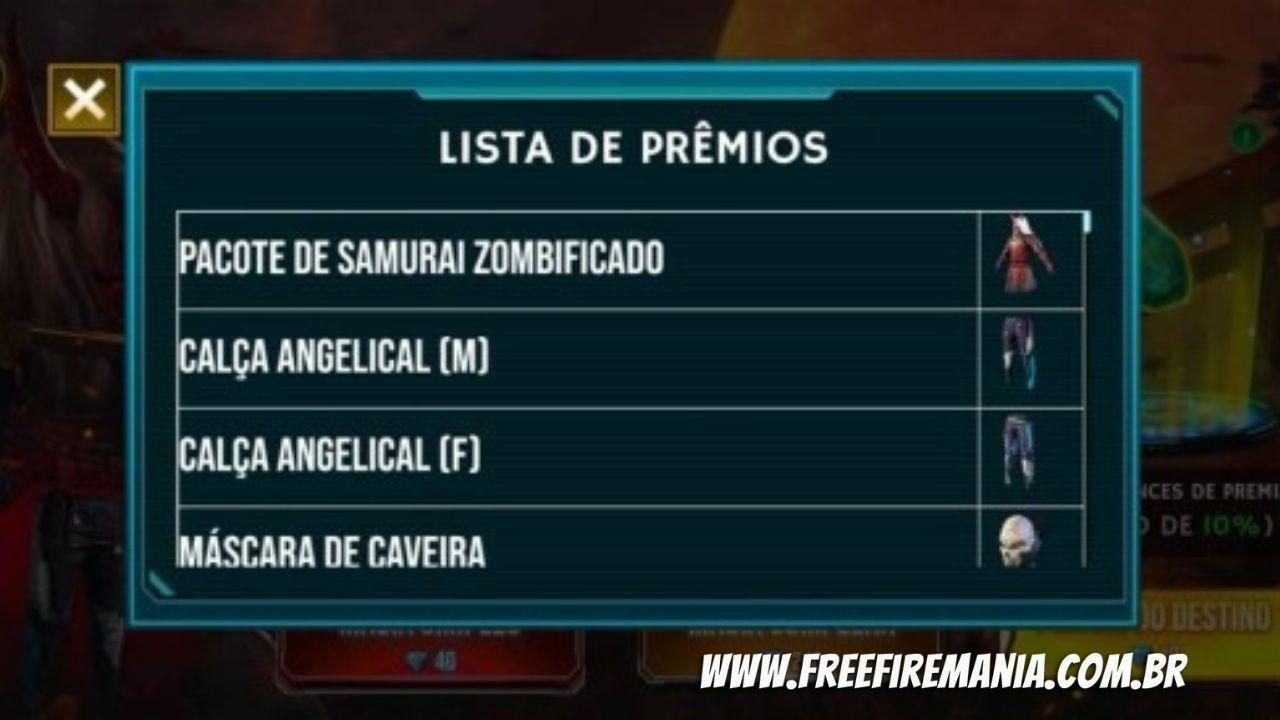 Premiação Magias Premiadas Free Fire