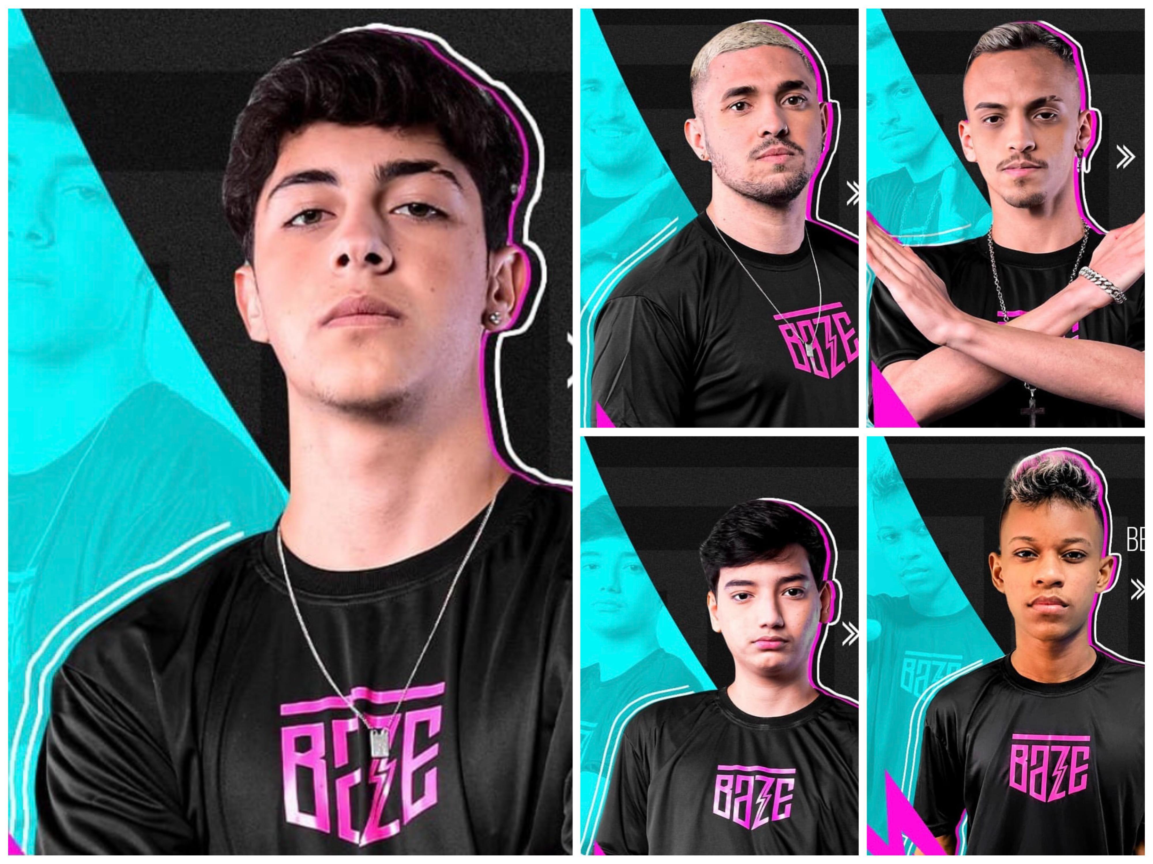 Jogadores da equipe Baze