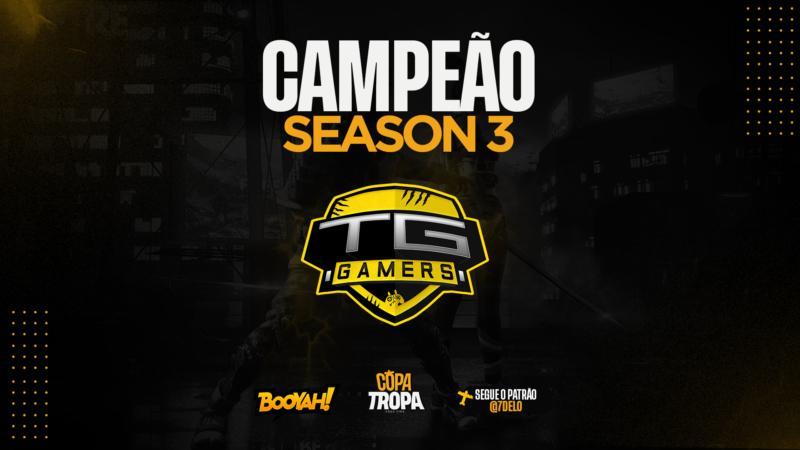 TG Gamers, vencedor da 3° edição da Copa Tropa. Imagem: @tropagg