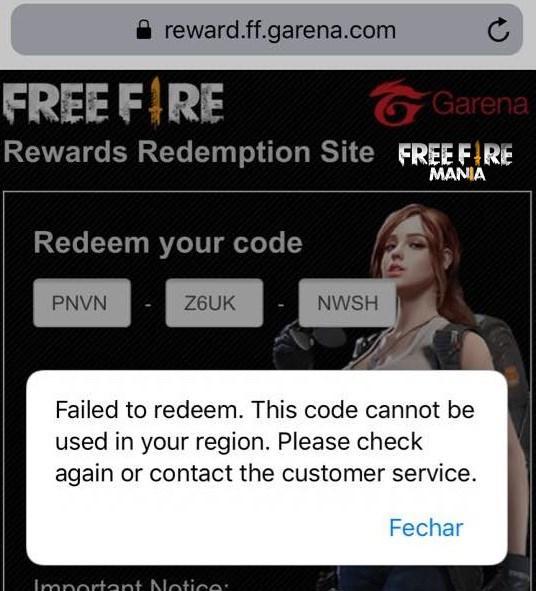 Código para ganhar Emote de Graça no Free Fire! Não funciona para o