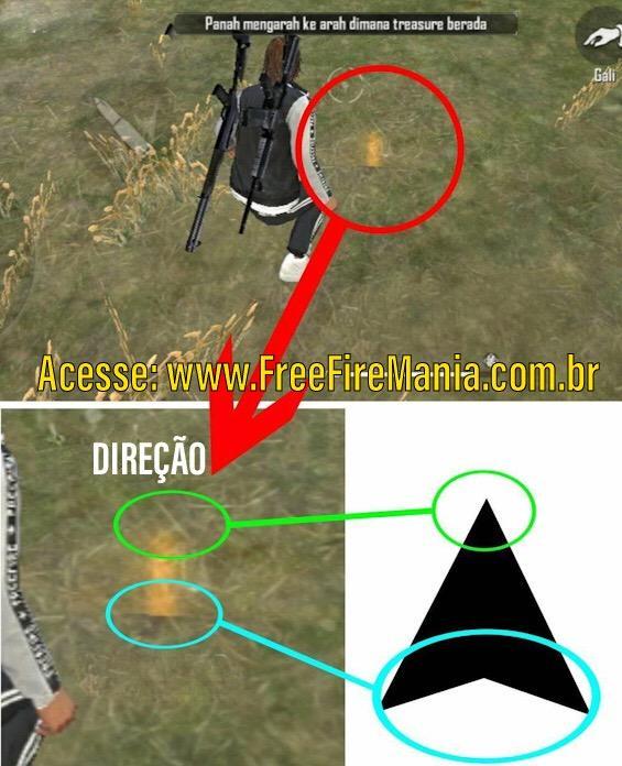 Encontre Baú do Tesouro no Mapa do Free Fire
