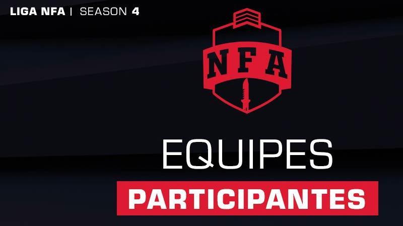 equipes LIga NFA 4ª temporada