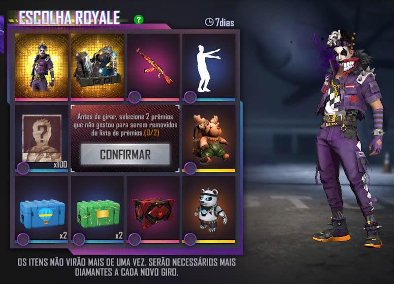 Escolha Royale Free Fire