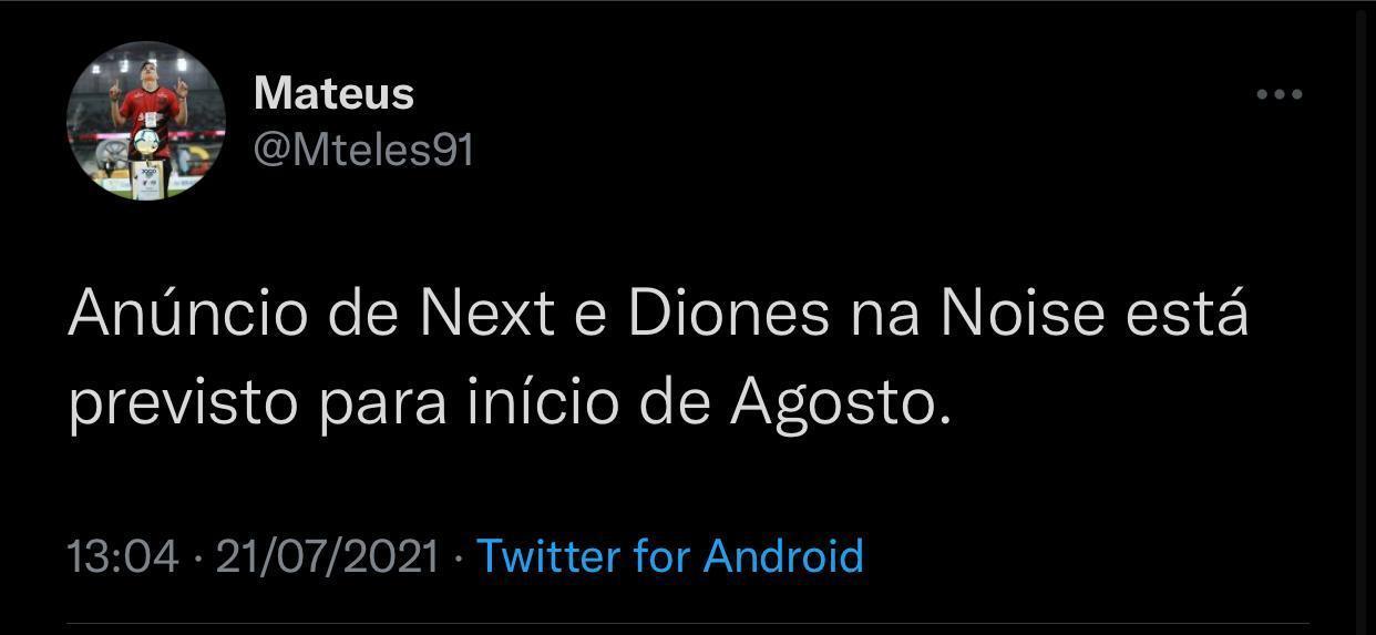 Jornalista Mateus Teles via twitter - @mteles