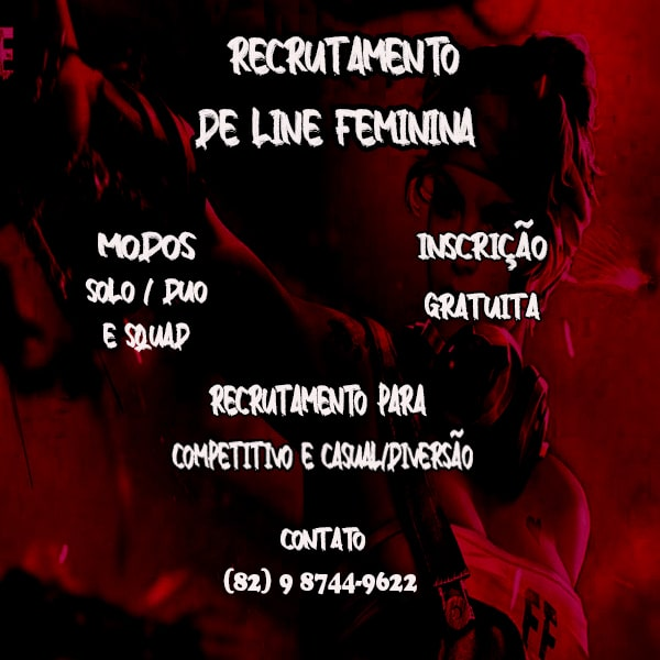 RECRUTAMENTO LINE FEMININA