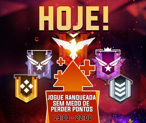 É HOJE! JOGUE RANQUEADAS SEM PERCA DE PONTOS!