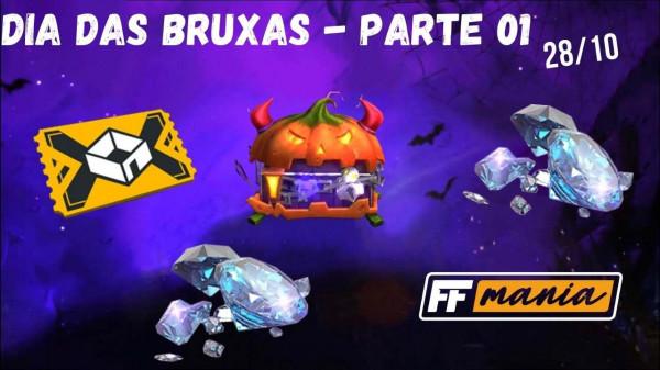 28 de Outubro no Free Fire: Evento de Recarga de Dia das Bruxas