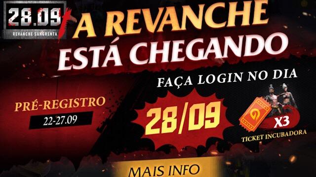 3 Tickets da Incubadora Grátis na Revanche