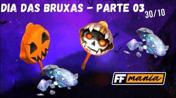 30 de Outubro no Free Fire: Evento de Recarga de Dia das Bruxas