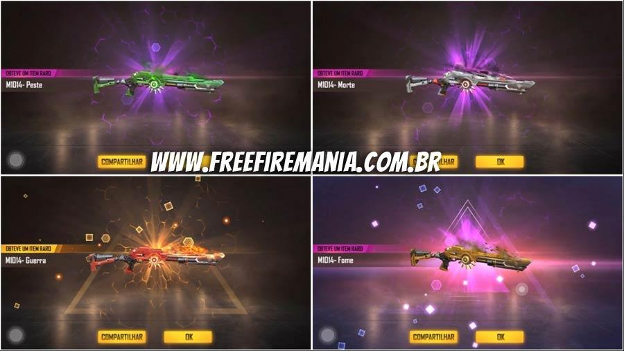4 M1014 skins: the new Free Fire weapon incubator