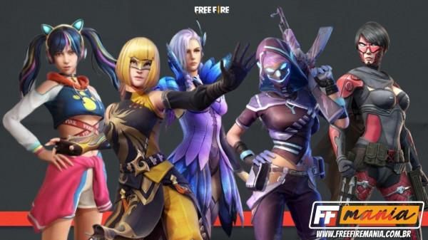 5 pacotes femininos estão de volta no dia das mães do Free Fire
