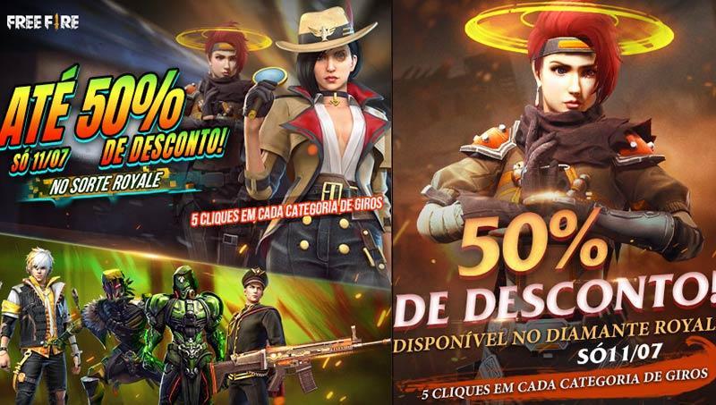 Diskon 50% untuk semua Lucky Royale pada 11 Juli