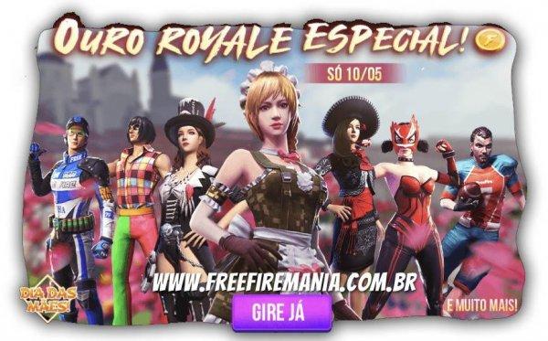 7 skins antigas do Ouro Royale estão de volta ao Free Fire