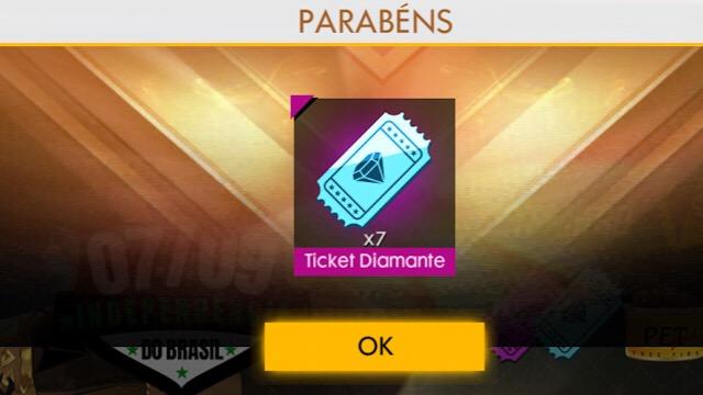 7 Tickets do Diamante Royale, Pegue Agora!