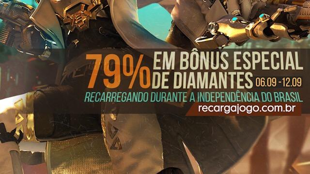 79% em Diamantes Extras, novo Evento de Recarga