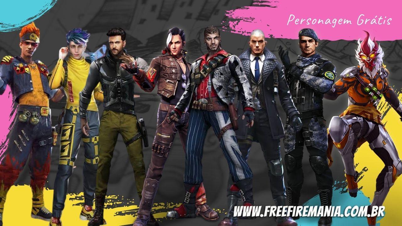 8 personagens estarão disponíveis no Free Fire, veja como conseguir e qual escolher