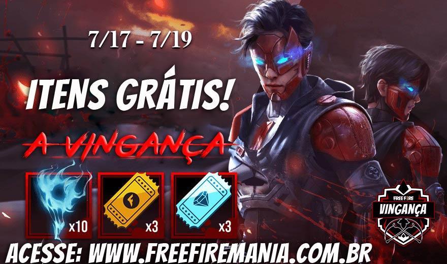 9 tickets e tokens grátis no Free Fire, faça login para ganhar!