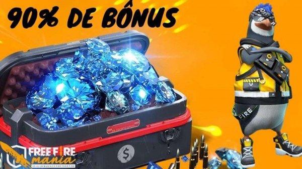 90% de diamantes extra no Free Fire, confira como ganhar!
