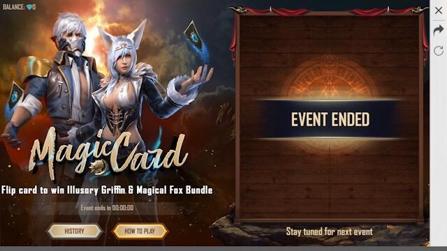 Acabou? Evento da Carta Mágica bugou!