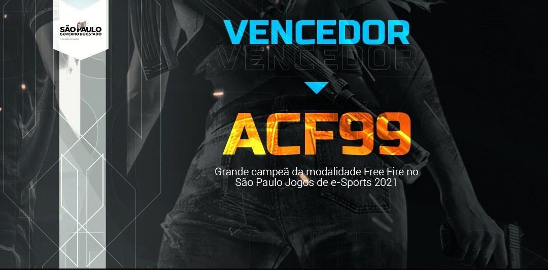 ACF99 é a campeã da modalidade Free Fire do São Paulo Jogos de e-Sports