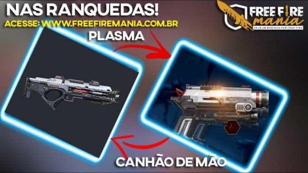 Agora na Ranqueada do Free Fire: Pistola de Mão e Arma de Plasma!