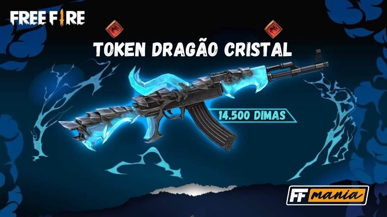 AK47 Chama do Dragão FULL por 14.500 diamantes, o item mais caro do Free Fire