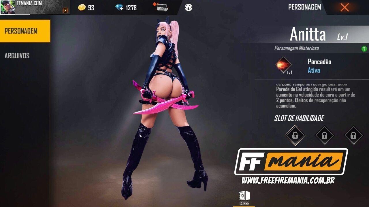 Anitta Free Fire: penyanyi harus menjadi karakter Battle Royale baru, lihat skillnya