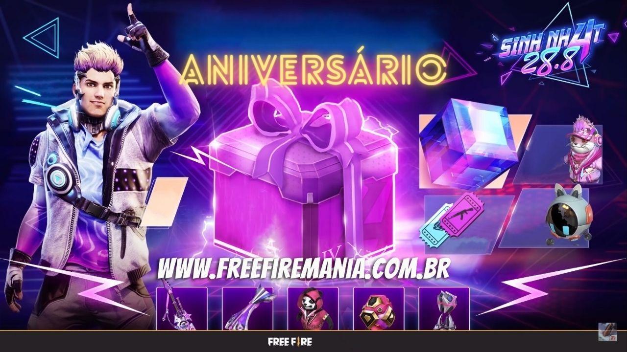 Free Fire 2021 Anniversary tiene lugar el 28 de agosto, mira las recompensas que ha preparado Garena