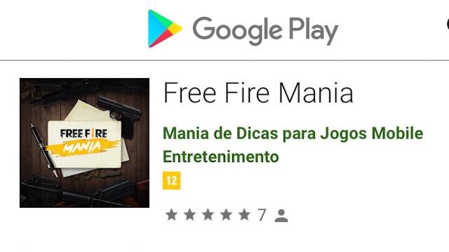 Aplicativo do Free Fire Mania