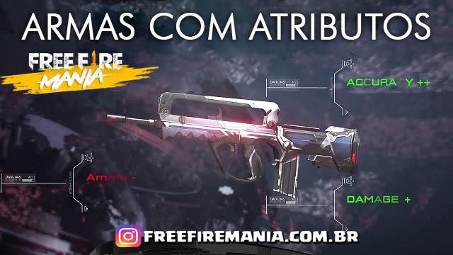 Armas com Atributos serão Removidas no servidor BR de Free Fire