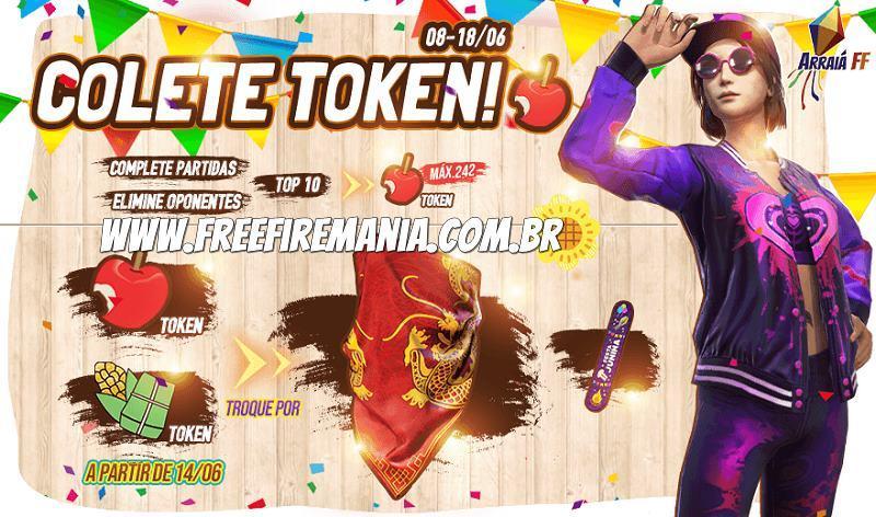 Nova Bandana Dragão grátis em desafios no Free Fire