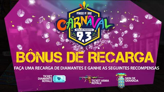 Bônus de Recarga - Carnaval 2019