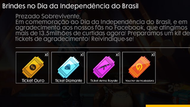 Brindes do Dia da Independência do Brasil