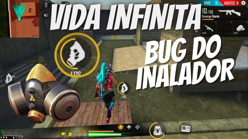 Bug de vida infinita no Free Fire utilizando o Inalador, dá BAN?