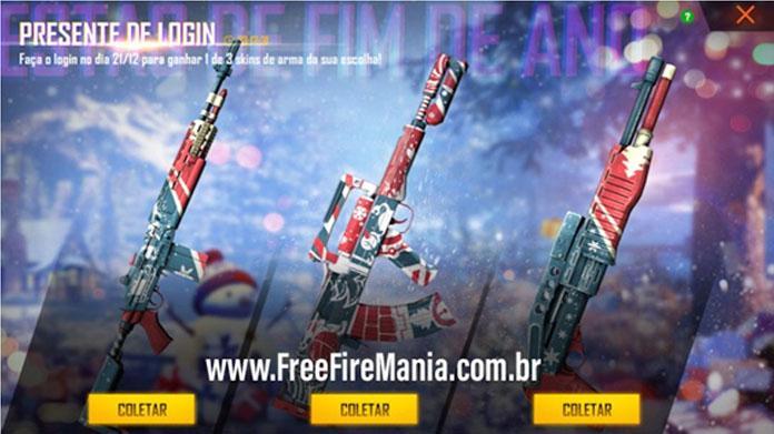 Bug do evento Escolha 1 de 3 Armas no Free fire!