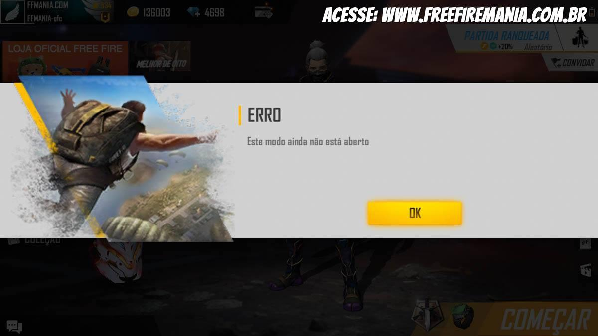 Bugou! Ranked Mode Not Opening in Current Free Fire Season
