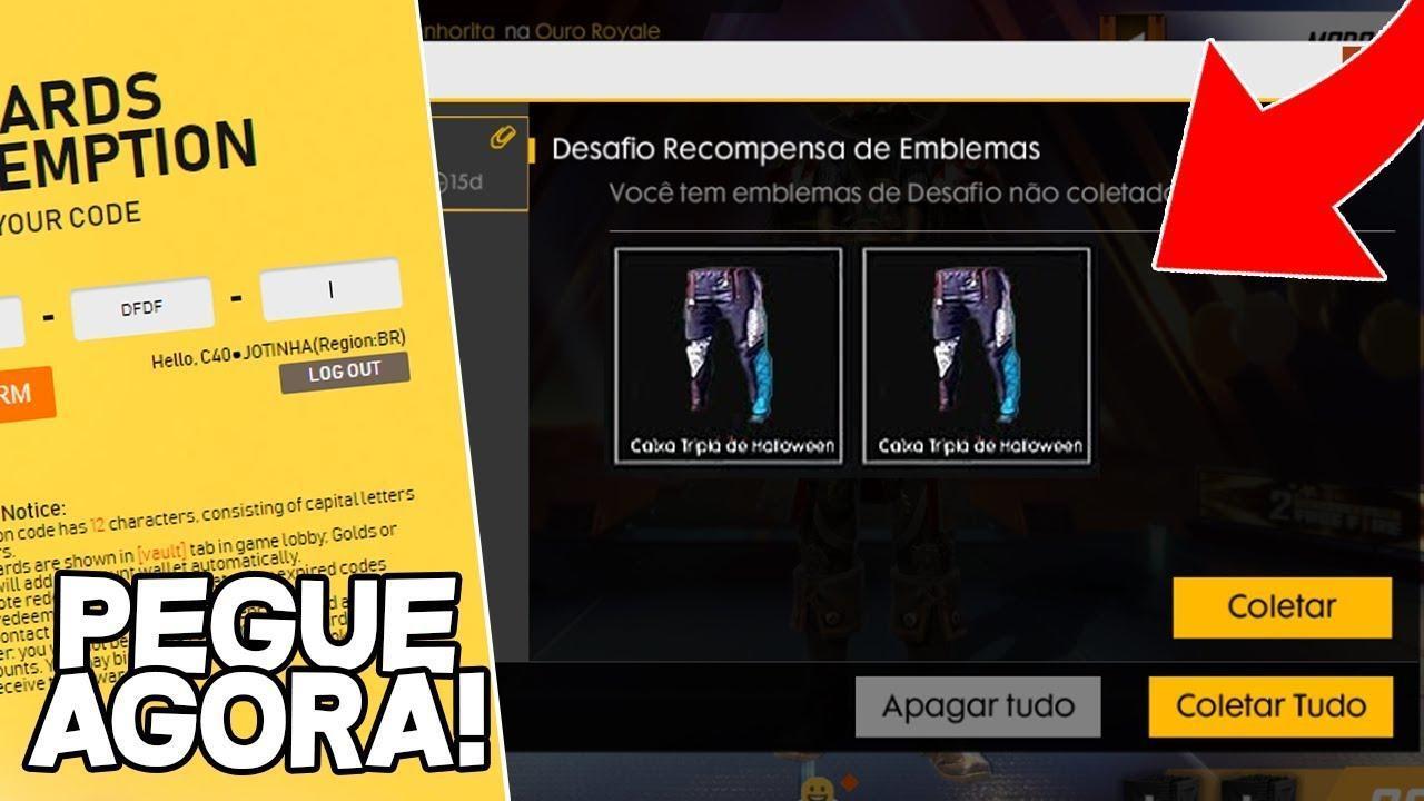 Confirmado! Calça Angelical grátis por 3 dias no Free Fire Brasil