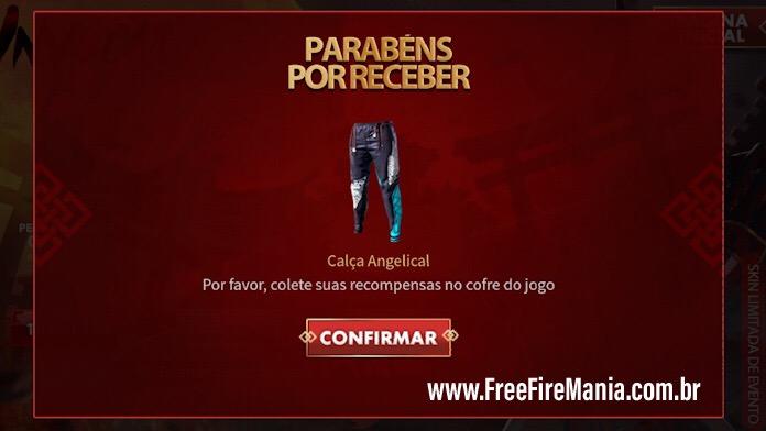 Calça Angelical Grátis no Free Fire
