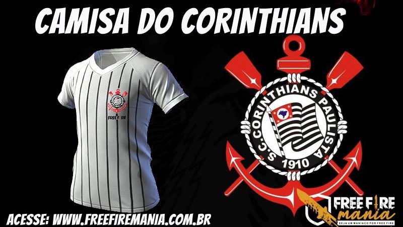 Camisa do Corinthians chega ao Free Fire