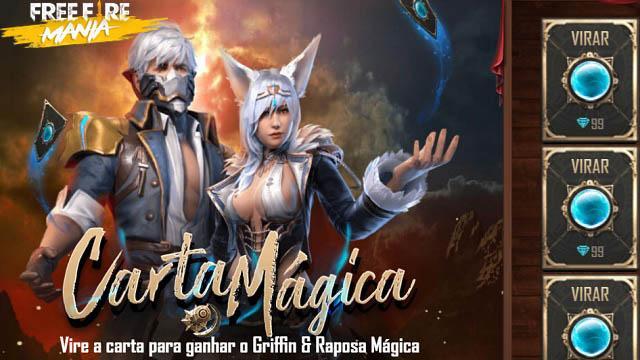 Carta Mágica: Ganhe as Skins Griffin e Raposa Mágica