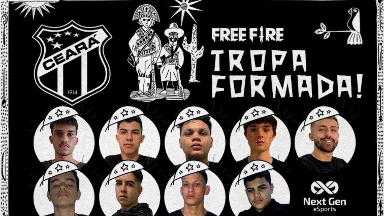 Ceará no Free Fire: famoso time do futebol brasileiro anuncia sua entrada na LBFF