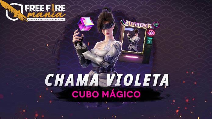 Chama Violeta - Novo Cubo Mágico no Free Fire