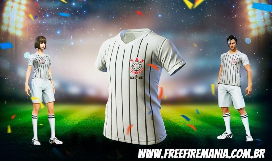 Chegou a Camisa do Corinthians no Free Fire, veja como pegar a sua!