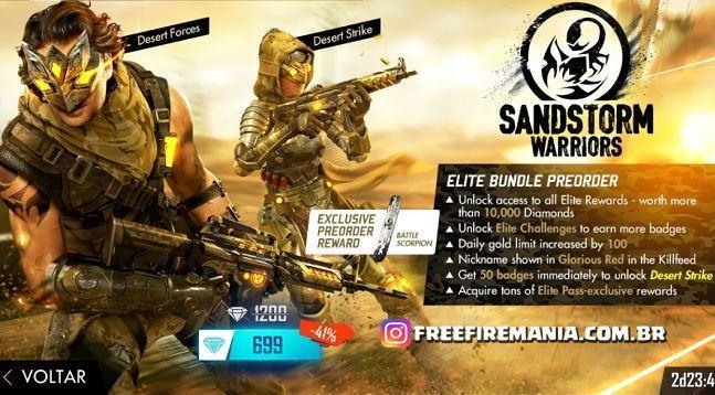Pra Penjualan Elite Baru Pass Agustus telah tiba - Sandstorm