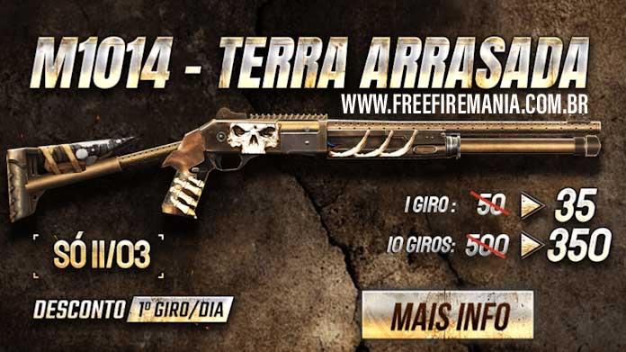 Chegou com desconto o novo Arma Royale da M1014 Terra Arrasada