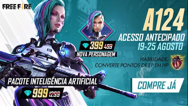 Chegou! Nova Personagem A124 por 399 Diamantes