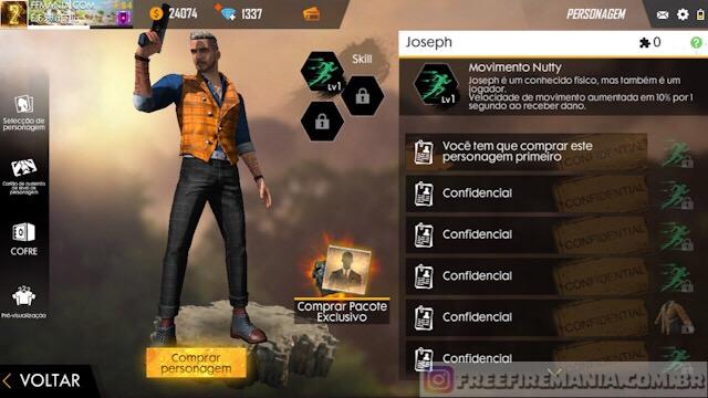 Chegou! Novo Personagem Joseph está disponível agora!