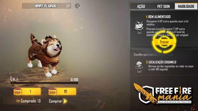 Chegou o Novo sistema de troca de Habilidades dos Pets no Free Fire